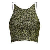 METALLIC LEOPARD HALTER CAMI – New Girl Order