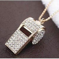 Fashion Diamond  Whistle Necklace