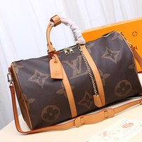 DCCK Gb29810 Lv Louis Vuitton Keepall 50 Monogram Giant Solar Ray Soft Travel Bag 50.0x 29.0x 23.0 Cm