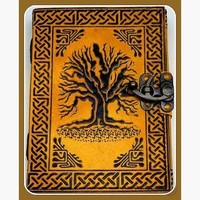 """""""Tree of Life"""" Latched Leather Journal"""