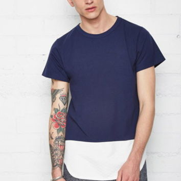 EPTM. Longline Quilted Panel Tee