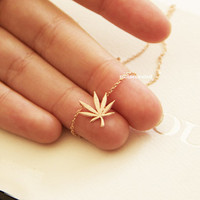 Tiny Leaf Necklace, Tiny Charm Necklace, Dainty Charm Necklace, Necklaces, Hipster Necklace, Charms, Holiday Gifts, Gift Ideas