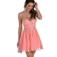Leigh- Peach Prom Dress