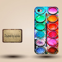 Iphone case, Iphone 4 case, Iphone 4s case, Iphone 5 case, unique handmade hard Plastic case,oil painting, Color Palette