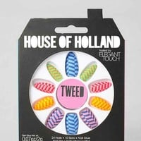 House Of Holland X Elegant Touch Tweed Faux Nail Set- Assorted One