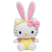 Ty Beanie Baby Hello Kitty - Yellow Jumper with Bunny Ears