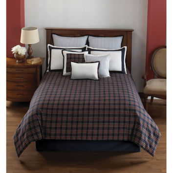 Hallmart Collectibles 43046 Dover Plaid King Ten Piece Comforter Set - (In No Image Available)