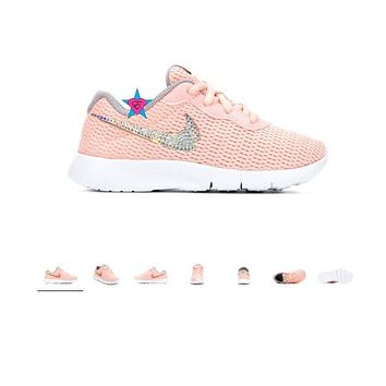 Little Kid - Bling Rhinestone Nike Tanjun Sneakers | 10.5-3