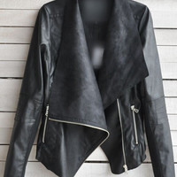 Casual Fall Leather Fashionable Jacket c0061