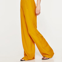 HIGH WAIST WIDE TROUSERS - View All-TROUSERS-WOMAN | ZARA United States