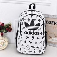 """Adidas"" Casual Sport Laptop Bag Shoulder School Bag Backpack Letters white"
