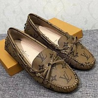 Louis Vuitton Women Fashion Simple  Casual  Flats Shoes