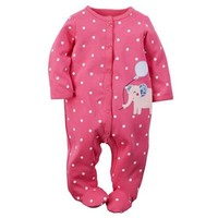 Carters Girls 0-9 Months Elephant Sleep N Play (Pink 3 Months) - Walmart.com
