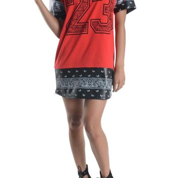 Women's Bandana Print Dress