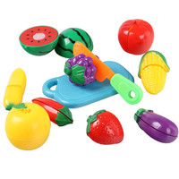 Creative Children Pretend Role Play Kitchen Fruit Vegetable Food Toy Cutting Set For Kids Cook Cosplay Safety Birthday Day Gifts