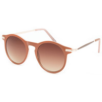 Full Tilt Round Keyhole Sunglasses Natural One Size For Women 25385042301