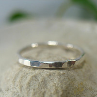 Toe Rings Sterling Silver Hammered Closed