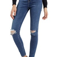 Topshop 'Jamie' Ripped High Rise Ankle Skinny Jeans | Nordstrom