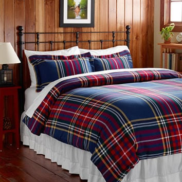 Ultrasoft Comfort Flannel Comforter Cover, Plaid: Comforter Covers | Free Shipping at L.L.Bean