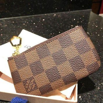 LV Louis Vuitton Classic Presbyopia Checkerboard Mini Wild Key Case