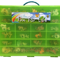 Littlest Pet Shop Compatible Organizer Green/Lime - Fun for LifeTM is Pefect Compatible Storage Case for LPS- Fits up to 60 Characters