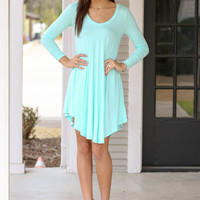 Simple Does It Dress - Mint