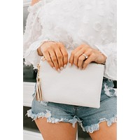 Afternoon Daze Clutch Bag (White Snake)