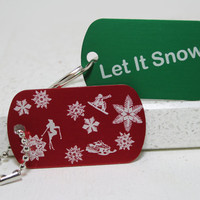 Let It Snow Key Chain or Necklace