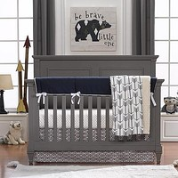 Liz and Roo® Archery (Navy and Coral) Crib Bedding