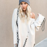 Tied Up Oversized Sweater