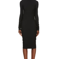 Rick Owens Black Plunging Back Marella Dress