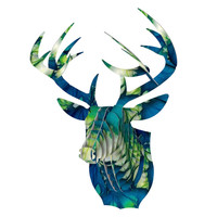 "Alison Coxon ""Leaves"" Bucky Deer Bust Jr."