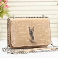 YSL Women Fashion Leather Chain Crossbody Satchel