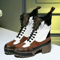 LOUIS VUITTON Fashion trending Women Shoes Waterproof Martin Boots 2 Style G-GCXGCFH-GC