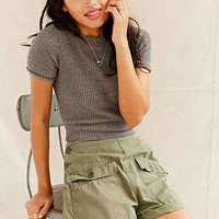 Urban Renewal Recycled Side Button Fatigue Short- Green