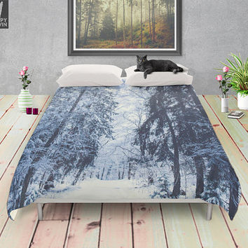Bent labyrinths - duvet cover - Lovely bohemian - soft - wanderlust style bedding for trendy bedroom. Sleep in nature. Photography adventure