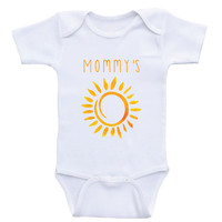 "Cute Baby Clothes ""Mommy's Sunshine"" Cute One-Piece Baby Shirt Bodysuits"