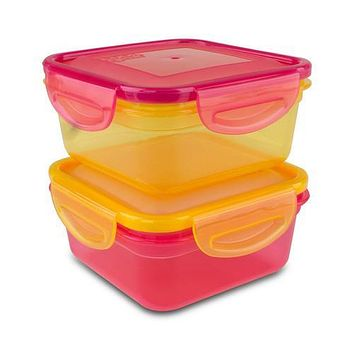 Cool Gear Air Tight Food Lunch Box Container 1.85 CUP BPA-free 2-Pack