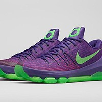 Nike Men's KD 8 Crt Prpl/Grn Strk/Vvd Prpl/Brg Basketball Shoe 12 Men US