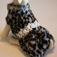 Leopard Dog Coat ,dog clothing, Chic, Jacket, Winter clothing