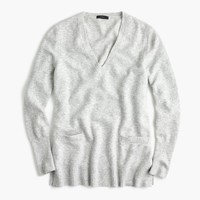 V-neck front-pocket tunic in supersoft yarn