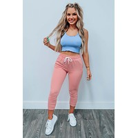 Comfy Feel Cropped Tank: Periwinkle
