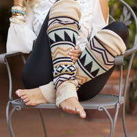 Nice and Cozy Aztec Leg Warmers