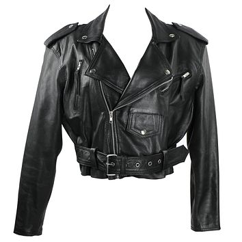 Vintage 90s Sandy Leather Moto Leather Jacket