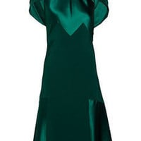 Prabal Gurung | Paneled silk-satin and silk-crepe dress | NET-A-PORTER.COM