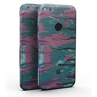"""Abstract Retro Pink Wet Paint - Full-Body Skin Kit for the Google 5"""" Pixel or 5.5"""" Pixel XL"""
