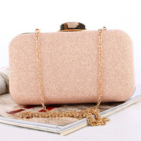TANGSONGGUCI women clutch bags ladies Rose Gold evening bags wedding bridal handbags purse bags holder