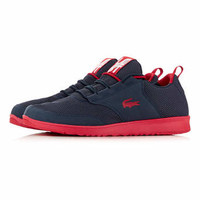 Lacoste Navy & Red Mesh Runners - Plimsolls & Trainers - Shoes and Accessories