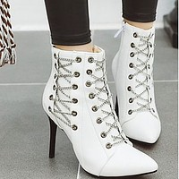 Hot style hot selling high heel zipper decorative pointed thin heel boot