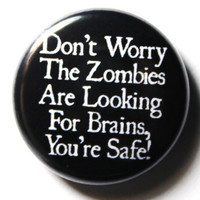 Funny Zombie Button PIN or MAGNET by snottub on Etsy